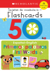 50 Spanish-English First Words: Scholastic Early Learners (Flashcards) Cover Image