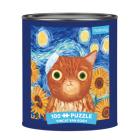 Puz 100 Tin Artsy Cat Vincat Van Go Cover Image