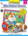 Colorful File Folder Games, Grade 1: Skill-Building Center Activities for Language Arts and Math Cover Image