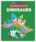 Brain Games - Sticker by Letter: Dinosaurs (Sticker Puzzles - Kids Activity Book) [With Sticker(s)] Cover Image