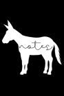 Notes: Elegant Donkey Notebook 6x9, Perfect Gift For Farm Animal Lovers, Notebook for Homework, Doodles, or Office Work, 120 Cover Image