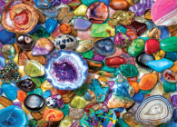 Crystals and Gemstones 1000 Piece Jigsaw Puzzle Cover Image