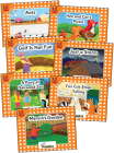 Jolly Phonics Orange Level Readers Complete Set: In Print Letters (American English Edition) Cover Image