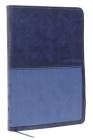 Kjv, Value Thinline Bible, Large Print, Leathersoft, Blue, Red Letter Edition, Comfort Print Cover Image