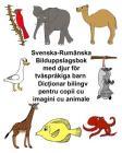 Svenska-Rumänska Bilduppslagsbok med djur för tvåspråkiga barn Cover Image