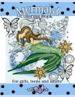 Mermaid Coloring Book - For girls, teens and adults. Cover Image