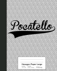 Hexagon Paper Large: POCATELLO Notebook Cover Image