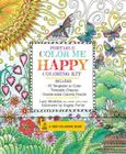 Portable Color Me Happy Coloring Kit: Includes Book, Colored Pencils and Twistable Crayons (A Zen Coloring Book) Cover Image