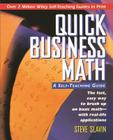Quick Business Math: A Self-Teaching Guide (Wiley Self-Teaching Guides #147) Cover Image