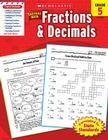 Scholastic Success With Fractions & Decimals: Grade 5 Workbook Cover Image