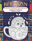 Livre de coloriage pour adultes - Oiseaux et fleurs - Animaux et oiseaux - Hérisson Cover Image