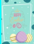 Happy Easter: A Unicorn coloring book for toddlers and preschool kids. Cover Image