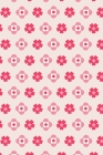 Notes: A Blank Squared Paper Journal with Simple Pink Flower Pattern Cover Art Cover Image