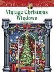Creative Haven Vintage Christmas Windows Coloring Book (Creative Haven Coloring Books) Cover Image