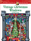 Creative Haven Vintage Christmas Windows Coloring Book (Adult Coloring) Cover Image