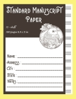 Standard Manuscript Paper 12-staff 100 pages 8.5 x 11 in: Music Manuscript Paper Cover Image