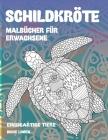 Malbücher für Erwachsene - Dicke Linien - Einzigartige Tiere - Schildkröte Cover Image