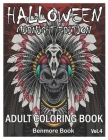 Halloween Midnight Edition: Adult Coloring Book with Beautiful Flowers, Adorable Animals, Spooky Characters, and Relaxing Fall Designs Volume 4 Cover Image