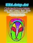 USA Artsy Art Wall Craft Decor Prints Color Filled AFrican Style Masks Divine Books Cut Out & Decorate or Collect as a Forever Keepsake 20 One Sided A Cover Image