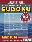Sudoku Medium: suduko puzzle books for adults large print - Full Page suduko for adults Maths Book to Challenge Your Brain Large Prin Cover Image