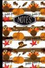 Notes: Thanksgiving Turkey Pattern Gobble Notebook 6