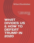 What Divides Us & How to Defeat Trump in 2020: Guns, Healthcare, Supreme court, Abortion, Climate Change, Immigration, Electoral College, Racism Cover Image