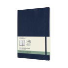 Moleskine 2022  Weekly Planner, 12M, Extra Large, Sapphire Blue, Soft Cover (7.5 x 10) Cover Image