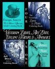 Victorian Ladies, Art Deco, Elegant Teacups and Animals: 4-in-1 Adult Coloring Book Cover Image