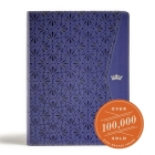CSB Tony Evans Study Bible, Purple LeatherTouch, Indexed Cover Image