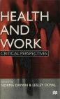 Health and Work: Critical Perspectives Cover Image