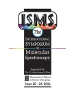71st International Symposium on Molecular Spectroscopy Cover Image