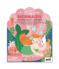 Coloring Book with Stickers Mermaids Cover Image