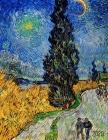 Vincent van Gogh Agenda 2020: Camino Rural En La Provenza De Noche - Planificador Annual - Enero a Diciembre 2020 - Post Impresionismo - Pintor Hola Cover Image