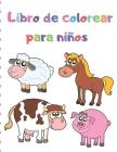 Libro de colorear para niños: 100 diseños de animales mágicos para niñas de 2-4,4-6 años Cover Image