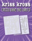 kriss kross puzzle book for adults: Criss Cross Crossword Activity Book Cover Image