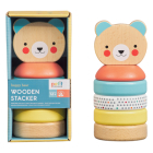 Happy Bear Wooden Stacker Cover Image
