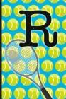 R: Tennis Monogram Initial Notebook for boys Letter R - 6