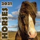 Horses 2021 Mini Wall Calendar Cover Image