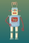 Notes: A Blank Sheet Music Notebook with Red and Blue Retro Robot Cover Art Cover Image