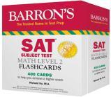 SAT Subject Test Math Level 2 Flashcards (Barron's Test Prep) Cover Image