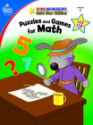 Puzzles and Games for Math, Grade 1: Gold Star Edition (Home Workbooks) Cover Image