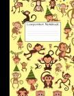 Composition Notebook: Monkey Party Monkeys Cute Composition Notebook, College Notebooks, Girl Boy School Notebook, Composition Book, College Cover Image