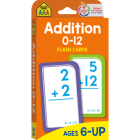 School Zone Addition 0-12 Flash Cards Cover Image