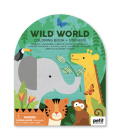 Coloring Book with Stickers Wild World Cover Image