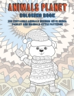 Animals Planet - Coloring Book - 200 Zentangle Animals Designs with Henna, Paisley and Mandala Style Patterns Cover Image