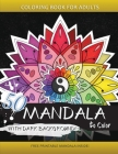 50 Mandala to Color with Dark background: Coloring Books for Adults and Kids Cover Image