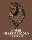 Horse Health Record Log Book: Pet Vaccination Log - A Rider's Journal - Horse Keeping - Veterinary Medicine - Equine Cover Image