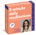 5-Minute Daily Meditations Page-A-Day Calendar 2022: A Year of Growth, Authenticity, and Introspection. Cover Image