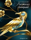 Livre de coloriage pour adultes Animaux steampunk Cover Image