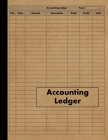 Accounting Ledger: Large Simple Accounting Ledger Book for Bookkeeping and Small Business - 120 Pages - Income Expense Account Notebook Cover Image